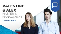 Testimonials: Alex and Valentine, Master in Management