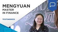 Mengyuan shares the flexibility of the program and the job opportunities