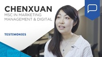 Chen Xuan, student testimonial (MSc in Marketing Management and Digital)
