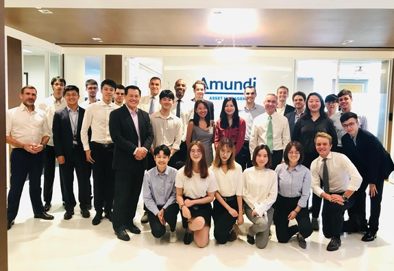 Master In Finance (MiF) students' visit to Amundi & Société Générale