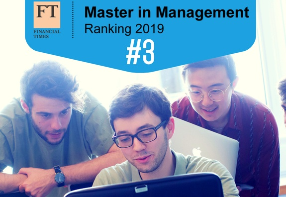 ESSEC Business School's Masters in Management program ranked 3rd in the world by the Financial Times