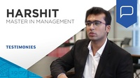 Testimonial:  Harshit Agrawal, Master in Management