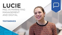 Lucie Hubert, student testimonial (MSc in Marketing Management and Digital)
