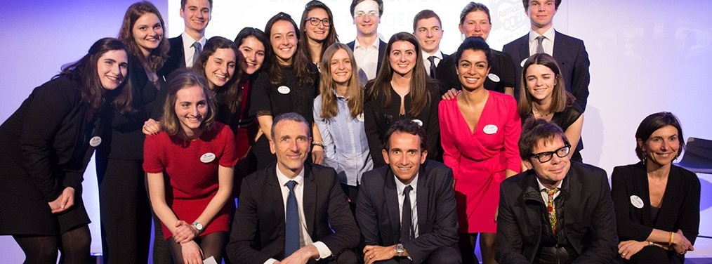 The CEOs of Carrefour and Danone discuss with the students of the ESSEC  Fast Moving Consumer Goods Chair