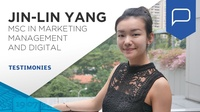Jin-Lin, student testimonial (MSc in Marketing Management and Digital)